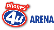 Phones 4u Arena logo used from 2013 to 2015