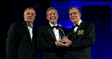 Chancellor Ballard accepting the 2010 Secretary of Defense Employer Support Freedom Award