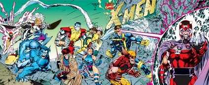 The tetraptych cover of X-Men, vol. 2, #1 (October 1991). Art by Jim Lee and Scott Williams.