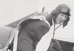 Wetherby-born World War Two flying ace 'Ginger' Lacey, in about 1940
