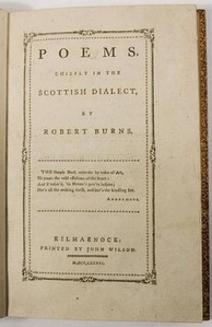 Title page of the Kilmarnock Edition