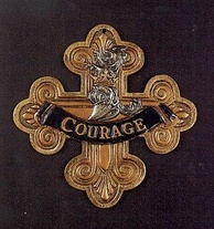 Cowardly Lion's courage medal used for the 1939 film.