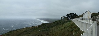 Point Reyes South Beach on foggy day