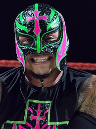 Wrestler Rey Mysterio is an example of a pure face who has played heroic roles for almost his entire career, with his lucha libre inspired outfit prominently displaying Christian crosses