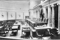 From the 1860s until the 1930s, the court sat in the Old Senate Chamber of the U.S. Capitol.