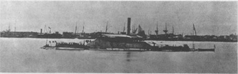 The Confederate ironclad CSS Tennessee taken after her capture by Federal forces.