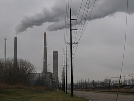 The Detroit Edison-owned Monroe Power Plant has the tallest structures in Monroe County.