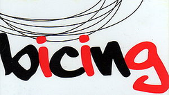 The Bicing user card, showing the logo.