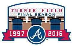 Commemorative patch of the final season at Turner Field