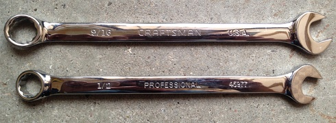 Craftsman Professional long pattern combination wrenches