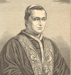 An 1846 sketch of Pope Pius IX soon after his election to the papacy
