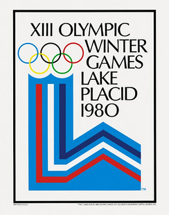 Official poster of the 1980 Winter Olympics
