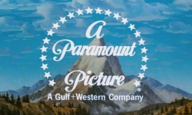 Paramount's logo from 1953–1975. The Gulf+Western byline was introduced following the company's purchase of Paramount. The variant shown here was used in the first three Indiana Jones films, the first of which was released in 1981.
