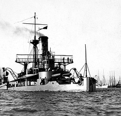 USS Puritan, two guns turreted, laid down in 1874 by Sec. Robeson, actively served during the Spanish–American War, bombarding Matanzas, Cuba on April 27, 1898.