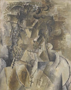Georges Braque, 1911-12, Girl with a Cross, oil on canvas, 55 x 43 cm
