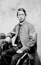 Joseph Pierce, soldier who served in North during American Civil War.[20][21] to Gettysburg to Lee's surrender at Appomattox Court House.[22] Pierce achieved the highest rank of any Chinese American to serve in the Union Army, reaching the rank of corporal.[23] Pierce's picture hangs in the Gettysburg Museum.[19][24]