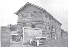 Workshops of the Madras Automobiles Ltd., c. 1904
