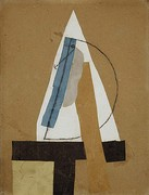 1913–14, Head (Tête), cut and pasted coloured paper, gouache and charcoal on paperboard, 43.5 × 33 cm, Scottish National Gallery of Modern Art, Edinburgh