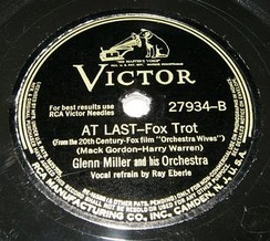RCA Victor 78, 27934-B, by Glenn Miller and His Orchestra with vocals by Ray Eberle, 1942.