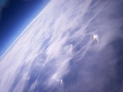 "This photo from the Nova 1 flight, entitled ""Earth from 32km"", won the Owlstone Photography Prize for 2007"