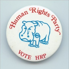 A Human Rights Party button.