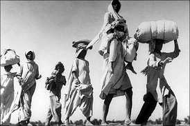 Over 10 million people were uprooted from their homeland and travelled on foot, bullock carts, and trains to their promised new home during the Partition of India. During the partition, between 200,000 to 2,000,000 people were killed in the retributive genocide.[96]