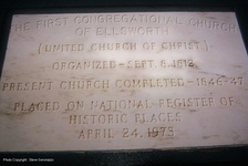 Cornerstone of First Congregational Church of Ellsworth
