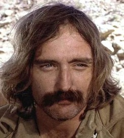 Hopper in Easy Rider wearing then radical long hair and mustache