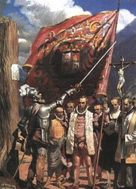 Pizarro and his followers founding Lima