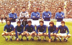 Italy's set up, with eight Juventus players, before the match against France in the 1978 FIFA World Cup