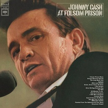 Cover shows a close up of Cash's face, looking at the camera.