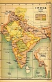 Map of India in 1857.