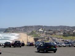 Bar Beach, south of the Newcastle CBD, is a popular swimming and surfing beach