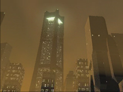 The action takes place in a futuristic urban setting, occasionally illustrated by cut-scenes.