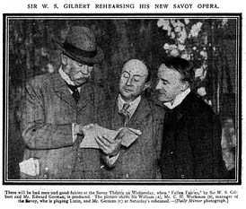 Gilbert, Workman and German at a rehearsal