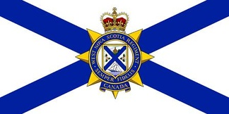 The camp flag of The West Nova Scotia Regiment.
