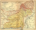 Baluchistan in 1908: the Districts and Agencies of British Baluchistan are shown alongside the States, mostly: Kalat.