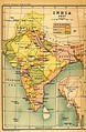Map of India in 1837.
