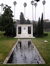 Fairbanks' tomb at Hollywood Forever Cemetery.