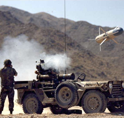 USMC launching a TOW missile during a 1980s training exercise at the Marine Corps Air Ground Combat Center.