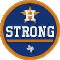 The Astros wore a patch during the 2017 World Series in support of Hurricane Harvey victims in Houston