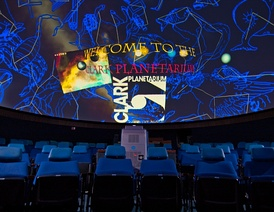 Clark Planetarium interior with actual projection.