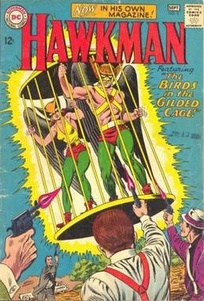 The Silver Age Hawkman and Hawkgirl, from Hawkman # 3 (August–September 1964). Art by Murphy Anderson