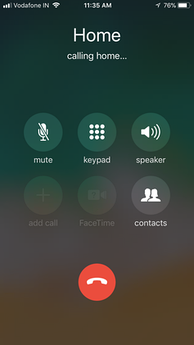 When making a call, the iPhone presents a number of options, including FaceTime on supported models. The screen is automatically disabled when held close to the face.
