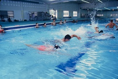 Swimming pool at the Steinke Physical Education Center (SPEC)