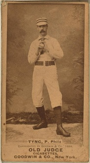 Jim Tyng on an 1888 baseball card.