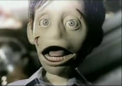 The puppet from the video
