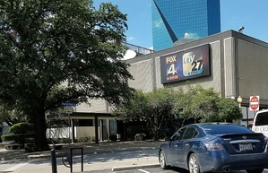 Studio/office facilities of KDFI (and sister station KDFW) on North Griffin Street in downtown Dallas.