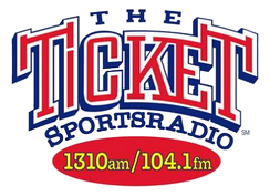 The Ticket's station logo used 2001-2013 when it simulcast on KTDK 104.1 FM.
