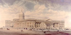 Nicholas Chevalier's unrealised 1860 vision for the National Gallery next to the State Library building
